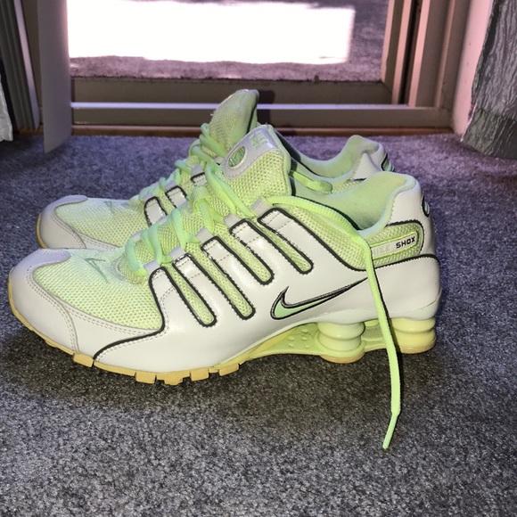 Women's Lime Green Nike Shox size 8
